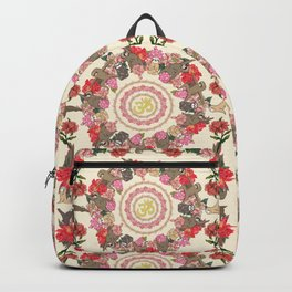 Sloth Yoga Floral Medallion Backpack