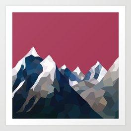 Geo Mountain Range (Part 2) Art Print