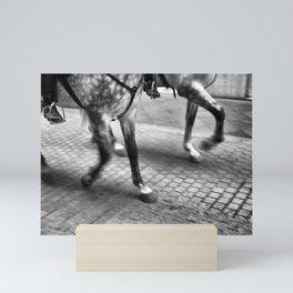Horses in the city. Mini Art Print