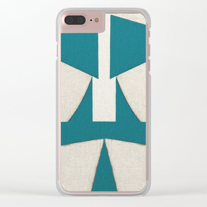 Lucha Libre Mask 5 Clear iPhone Case