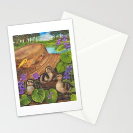 Ducklings and Old Fishing Hat Stationery Cards
