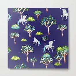 Magical unicorns Metal Print