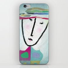 matching hat iPhone & iPod Skin