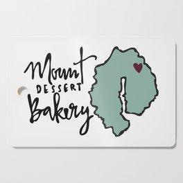 Mount Dessert Bakery Logo Cutting Board