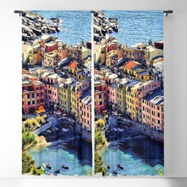 Cinque Terre Vernazza Village Mediterranean Coast, Italy Blackout Curtain
