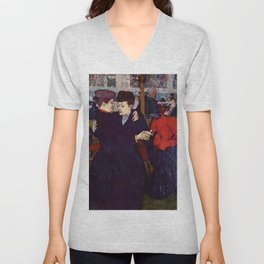 """Henri de Toulouse-Lautrec """"Two Woman Waltzing"""" Unisex V-Neck"""