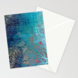 On the verge of Blue Stationery Cards