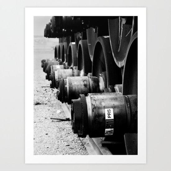 Rail Wheel Art Print