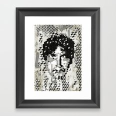 Cube Head Framed Art Print