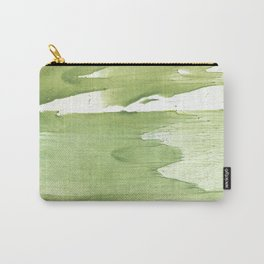 Green khaki clouded wash drawing texture Carry-All Pouch