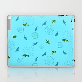 Blue Dolphin and Orca Laptop & iPad Skin