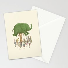 The Night Gardener - Elephant Topiary  Stationery Cards