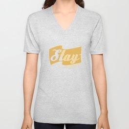 """""""Stay Hungry"""" with this tee! Makes a cute and awesome gift this holiday for your friend and family! Unisex V-Neck"""