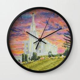 Hamilton New Zealand LDS Temple Wall Clock
