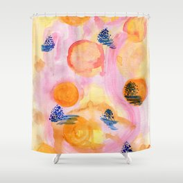 Mountains of light Shower Curtain