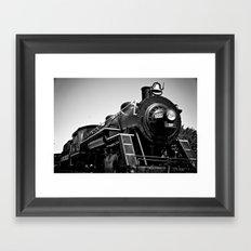Long Black Train Framed Art Print