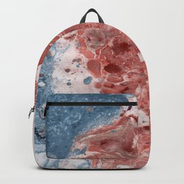 Marble art :  Beach side Backpack