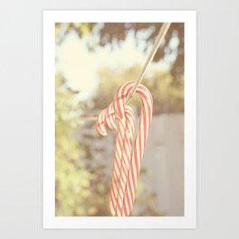 Candy Cane days Art Print