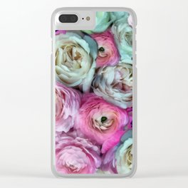 Romantic flowers I Clear iPhone Case