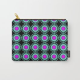 Retro Colorful Circles Pattern Carry-All Pouch