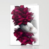 ferret Stationery Cards featuring Rosy Ferret by Clara J Aira