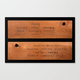 Indonesian Traditional Scripts Canvas Print