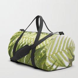 House Plant Fern Leaf Silhouette Sunlight Zen Photo Duffle Bag