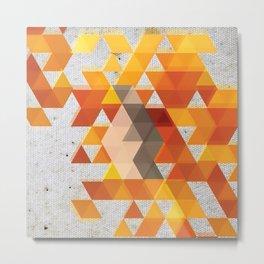 Geometric Penguin Metal Print