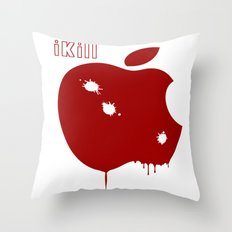 Apple Kill Throw Pillow
