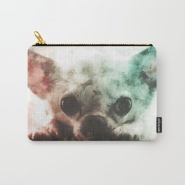Chihuahua Digital Watercolor Painting Carry-All Pouch