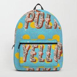 Itsy Bitsy Teenie Weenie Yellow Polka Dot Bikini - The Bikini celebrates its 70th Birthday Backpack