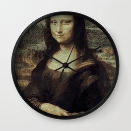 """""""Vector"""" Mona Lisa Wall Clock"""