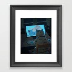 Midnight Surfer Framed Art Print