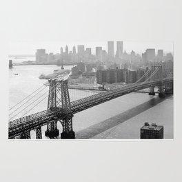 Photograph of NYC and The Williamsburg Bridge Rug