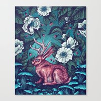 jack Canvas Prints featuring Jack by Angela Rizza