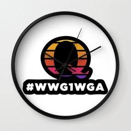 #WWGIWGA Wall Clock