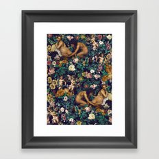Young Greeks and Floral Pattern Framed Art Print