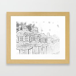 Ghost Lantern Framed Art Print