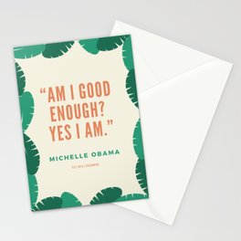 """Am I good enough? Yes I am.""