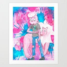 Pink Lars Art Print