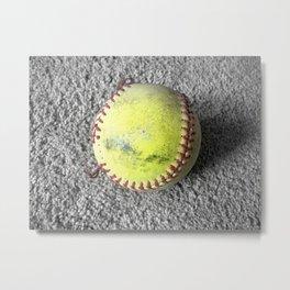 The Softball Metal Print