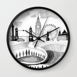 London - British Design - English Modern Art Wall Clock