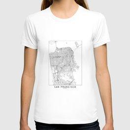 San Francisco White Map T-shirt