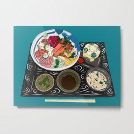 Japanese Seafood Chirashi Platter Metal Print