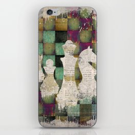 Paint and Print  Chessboard and Chess Pieces iPhone Skin