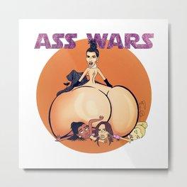 Kim Kardashian Ass wars Metal Print