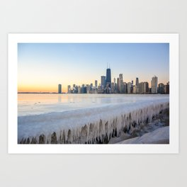 Iced Out Sunrise Art Print