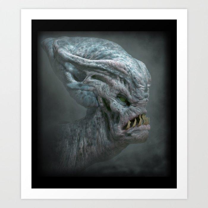Bulbous Alien Art Print