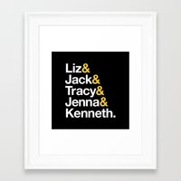 30 rock Framed Art Prints featuring 30 ROCK by Maria Giorgi
