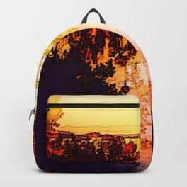 Impression of a sunset Backpack